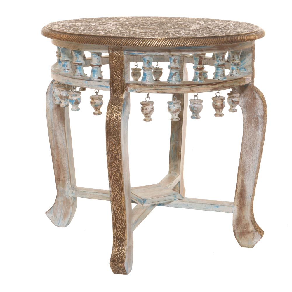 ANTIQUE WELLS ROUND SIDE TABLE