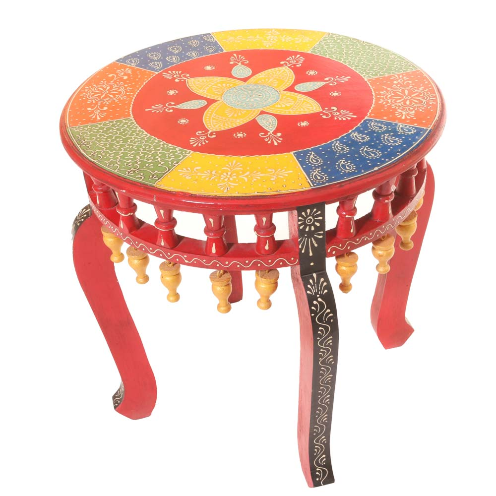 WOOD BELL COLORFUL STOOL