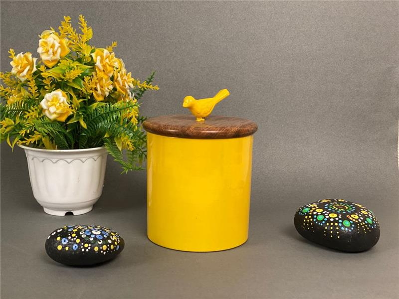 BIRD CONTAINER YELLOW COLOR