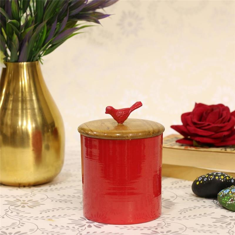 BIRD CONTAINER RED COLOR